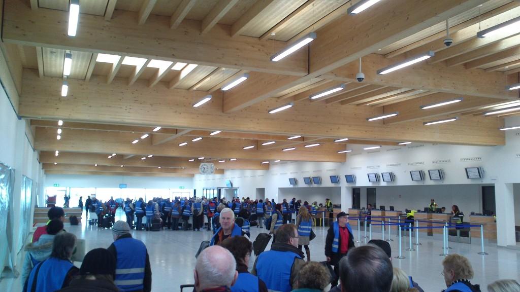 Terminal am neuen Flughafen Kassel-Calden