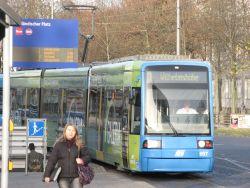 Tram Linie 1 in Kassel, Novemver 2009